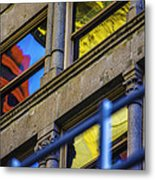 Red Yellow Blue Abstract No Watermark Metal Print