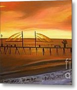 Redondo Beach Pier At Sunset Metal Print