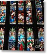 Religious Stained Glass Windows Metal Print