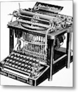 Remington Typewriter Metal Print