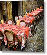 Restaurant Patio In France Metal Print
