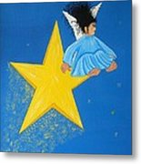Ride A Shooting Star Metal Print