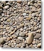 River Rocks Pebbles Metal Print