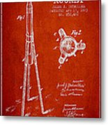 Rocket Patent Drawing From 1883 Metal Print