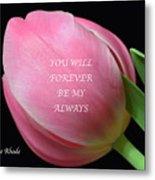 Romantic Pink Tulip Metal Print