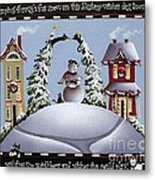 Romping Through The Snow Metal Print