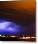 Round 2 More Late Night Servere Nebraska Storms Metal Print