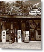 Route 66 - Hackberry General Store Metal Print