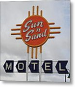 Route 66 - Santa Rosa New Mexico Metal Print by Frank Romeo
