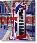 Royal Telephone Box Metal Print by David French