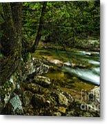 Rushing Mountain Stream Metal Print
