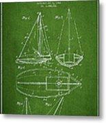 Sailboat Patent Drawing From 1948 Metal Print