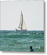 Sailing In California Metal Print