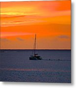 sailing in Tahiti Metal Print