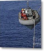 Sailors Lower A Rigid-hull Inflatable Metal Print