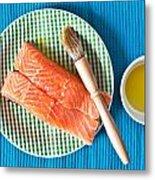 Salmon Fillets Metal Print