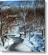 Same Creek Different Place Metal Print by Denny Dowdy