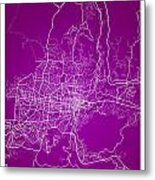 San Salvador Street Map - San Salvador El Salvador Road Map Art  Metal Print