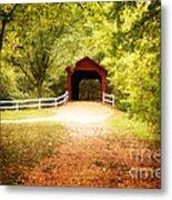 Sandy Creek Covered Bridge Metal Print
