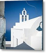 Santorini Church Metal Print
