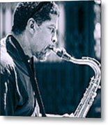 Saxophone Player Metal Print