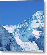 Scenic View Of Eiger And Monch Mountain Metal Print