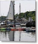 Schooner Camden Harbor - Maine Metal Print