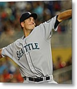 Seattle Mariners V Miami Marlins Metal Print