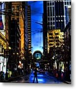 Seattle Streets Metal Print