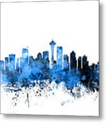 Seattle Washington Skyline Metal Print