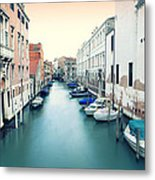Secluded Canal In Venice Metal Print