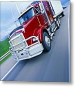 Semi-trailer Truck Metal Print