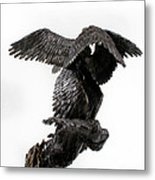 Seraph Angel A Religious Bronze Sculpture By Adam Long Metal Print