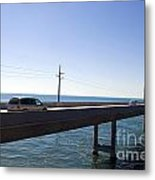 Seven Mile Bridge Florida Keys Metal Print