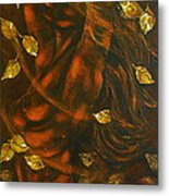 She...autumn Metal Print by Elena  Constantinescu