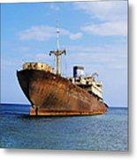 Shipwreck On Lanzarote Metal Print