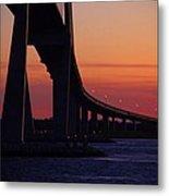 Sidney Lanier Bridge At Sunset Metal Print