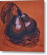 Simply Pears Metal Print