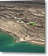 Sinkholes In Northern Dead Sea Area Metal Print by Ofir Ben Tov