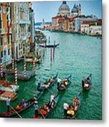 Six Gondolas Metal Print