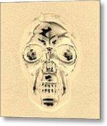 Skull In Sepia Metal Print
