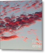 Sky Full Of Fire. Photo Taken In Ft. Myers Florida At Sunset. Metal Print