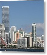 Skyline Miami Metal Print