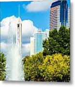 Skyline Of A Modern City - Charlotte North Carolina Usa Metal Print