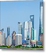 Skylines At The Waterfront, Oriental Metal Print