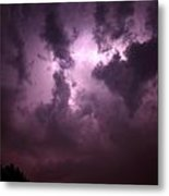 Small But Eruptive Cell North Of Kearney Metal Print