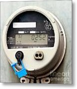Smart Grid Residential Digital Power Supply Meter Metal Print