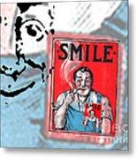 Smile Metal Print by Edward Fielding