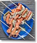 Smoked Salmon And Grilled Artichoke Metal Print