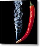Smoking Red Hot Chilli Pepper  Metal Print